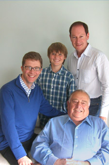 Right-click photo to download 4x6 300 dpi version of Richard, Andrew, Adam, and Gideon.